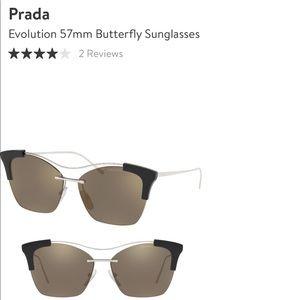 Prada Evolution 57mm Butterfly Eyewear
